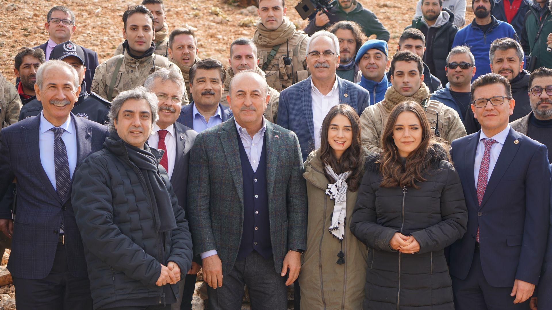 Dışişleri Bakanı Mevlüt Çavuşoğlu, Nöbet'in setinde!