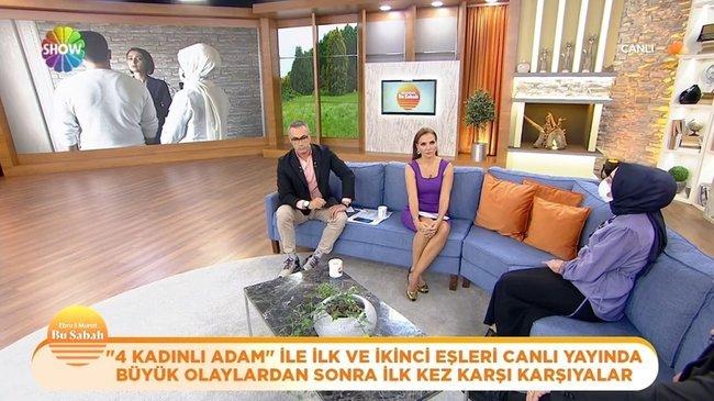 Türkiye'nin konuştuğu ''Dört kadınlı adam'' kendisi için kavga eden eşleriyle Bu Sabah'ta yüzleşti!